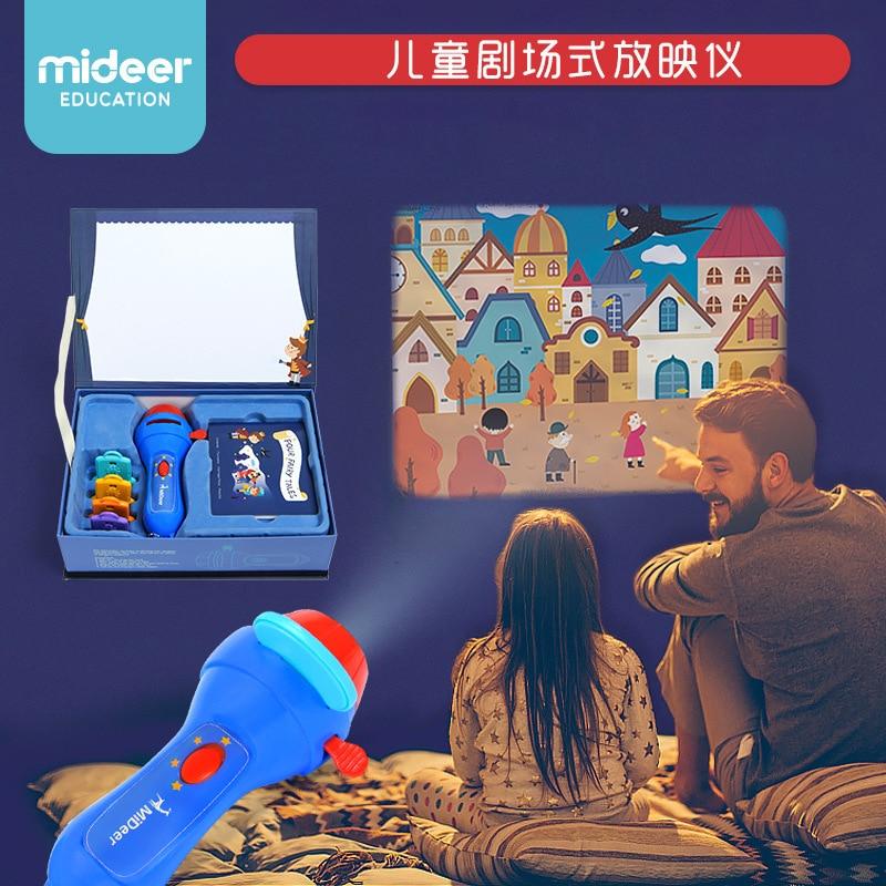 Tocha pequeno teatro crianças livro de história wondeful história para dormir cena o príncipe mideer lanterna iluminação crianças brinquedo jogo de festa