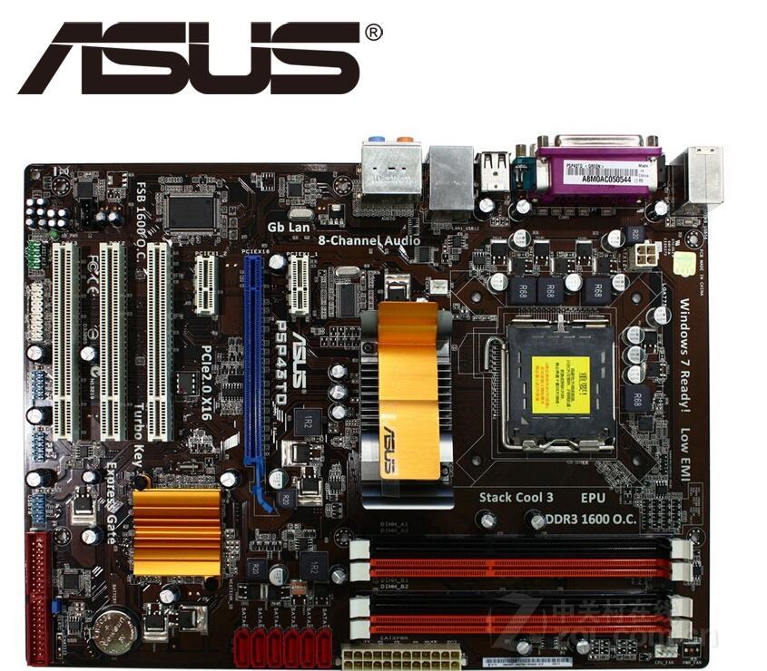 ASUS-placa base P5P43TD PRO original, para intel LGA 775 DDR3 16GB USB2.0...