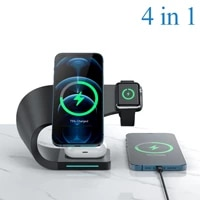 4 in 1 15w magnetic wireless charger stand for iphone 12 12 pro max mini usb charge fast charging station for iwatch airpods pro