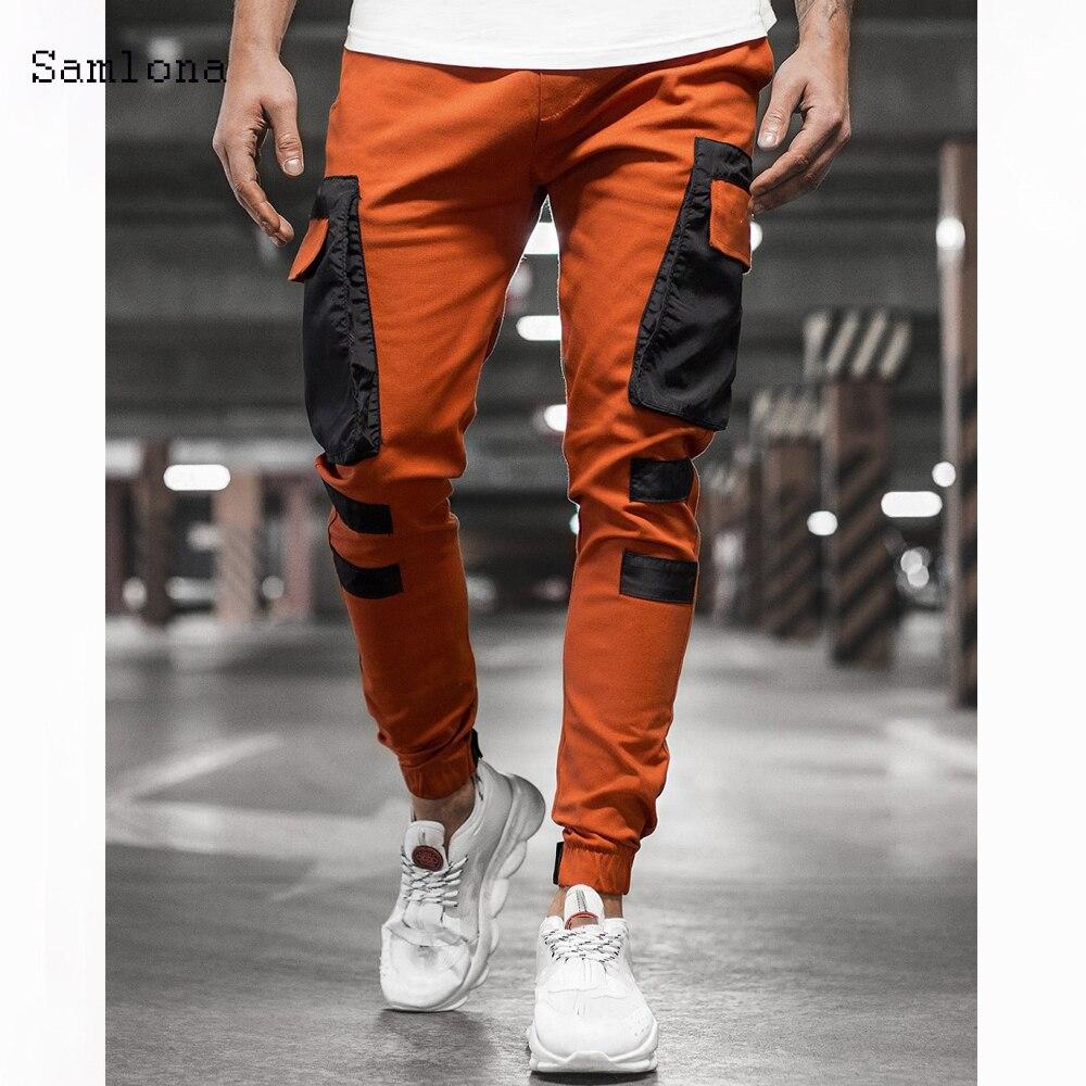 Новинка 2020, модная уличная одежда, брюки-карго, мужские джоггеры, повседневные Прямые шаровары, мужские брюки-карандаш большого размера в Ко...
