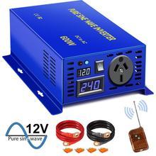 Inverseur de système hors réseau 600W 12V 220V cc à ca prises multi-style personnalisables onduleurs à onde sinusoïdale Pure télécommande filaire