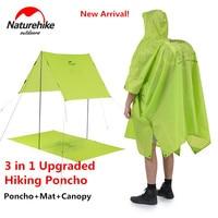 Naturehike Outdoor mountaineering walking 3 in 1 poncho Triad to groundsheet awning raincoat outdoor raincoat