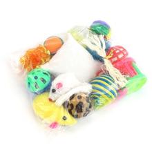 14 Pcs Pet Cat Toy Set Cat Toy Mouse Bell Ball Set Creative Pet Supplies Suit Tease Stick Mouse Ball Gift Fashion's Talk Cat Toy