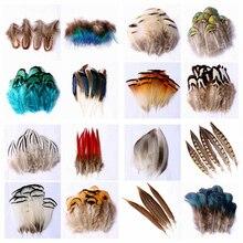 100 pièces faisan dautruche plumes de paon petit artisanat bricolage Plume plumes blanches naturelles de couleur décoration de fête de mariage Plumas