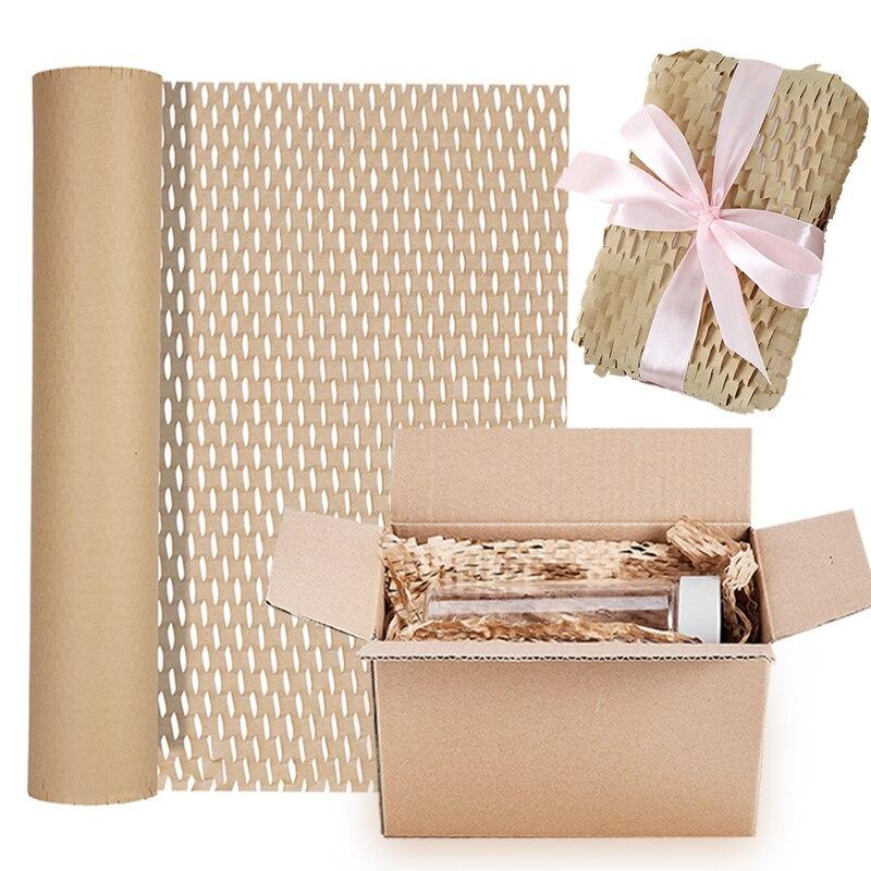 5 м бумажная упаковка для цветов, Крафтовая сотовая амортизирующая бумага, подарочная упаковка, рулон бумаги для свадьбы, дня рождения