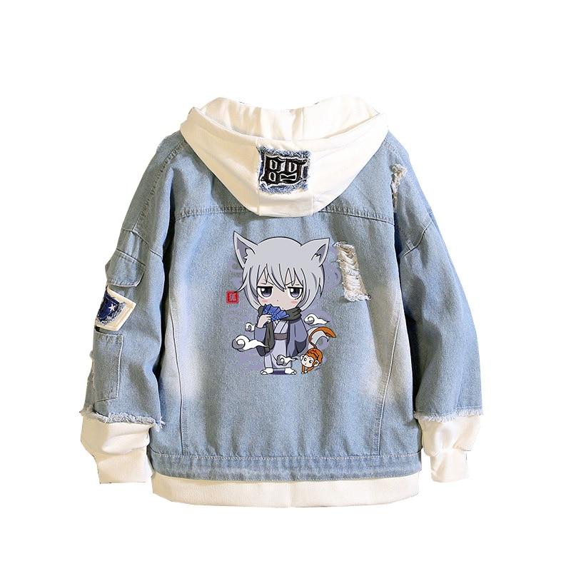 Kamisama Love Unisex Denim Jacket Anime Harajuku Streetwear Oversized Hoodies Jeans Sweatshirt Autumn Coats Couple Clothes