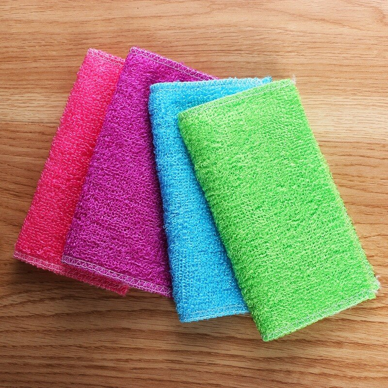 Pack High Efficient Anti-grease Dish Cloth Bamboo Fiber Washing Towel Magic Kitchen Scouring Pad Cleaning Wiping Rags недорого