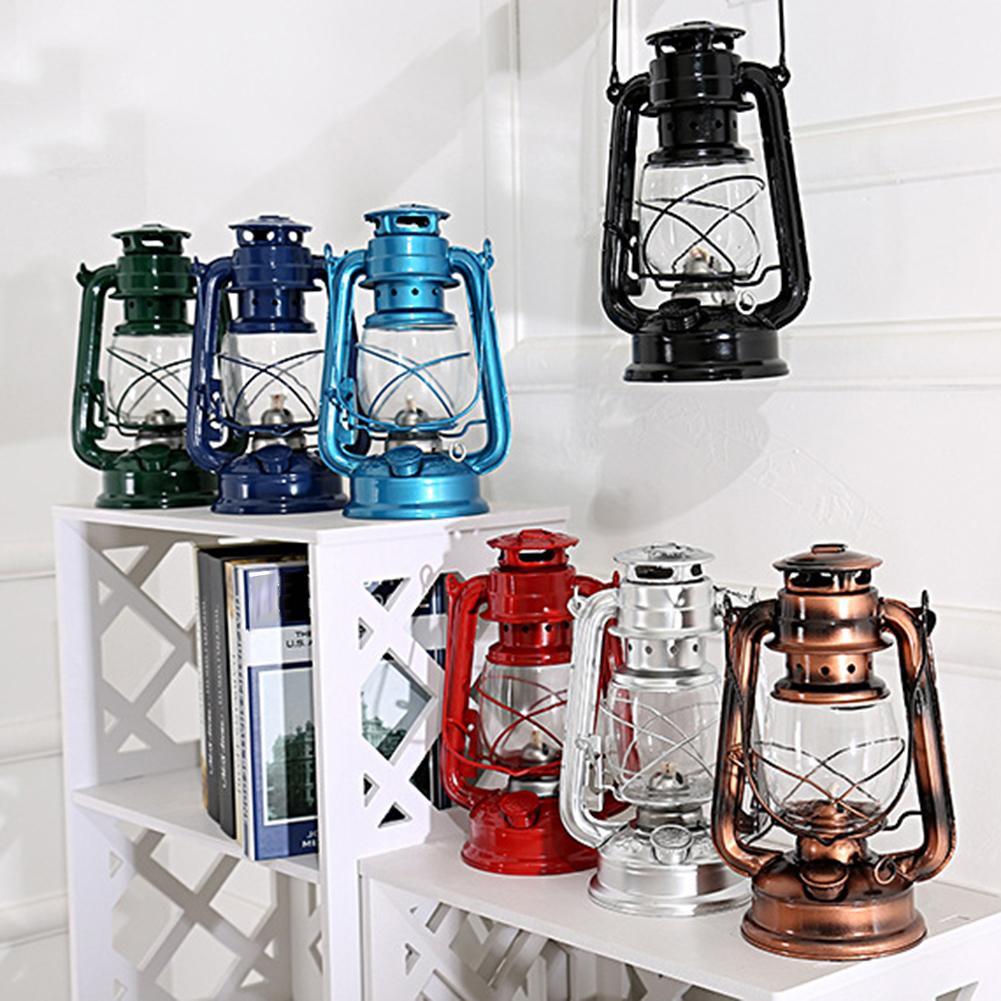 25cm Vintage Style kérosène lampe Portable en plein air EDC durgence survie outil Camping tente lumière vide suspendus lanterne décor