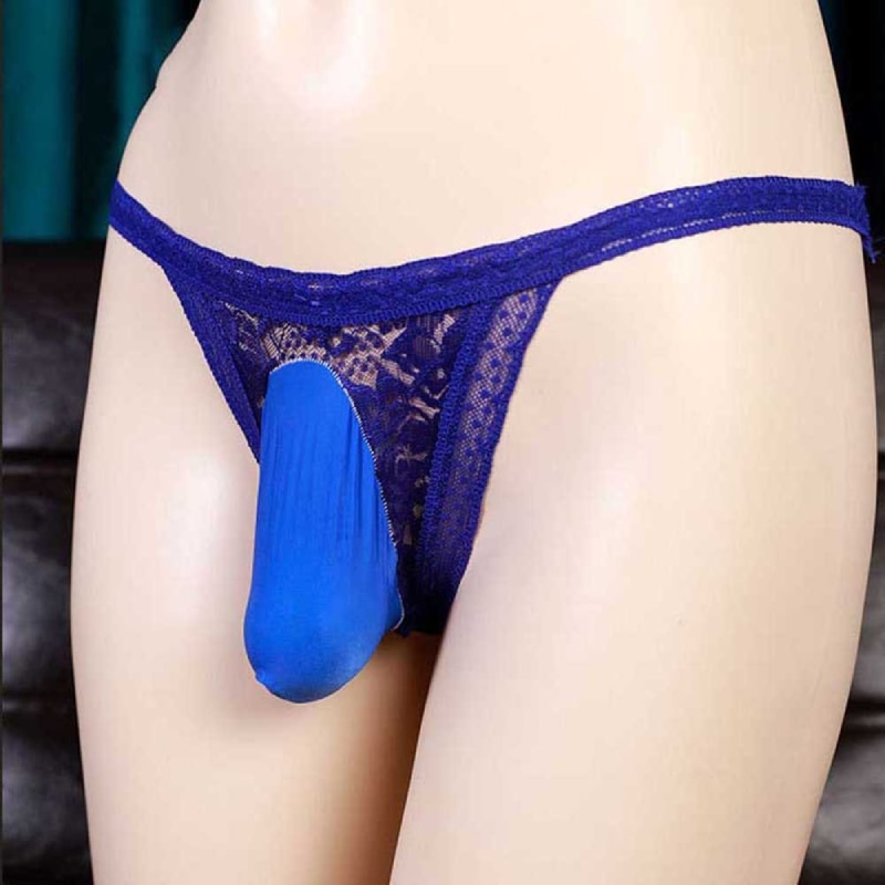 Sissy Pouch Panties Mens Lace Bikini Briefs G-String Thongs Underwear Knickers Briefs Gay Underwear
