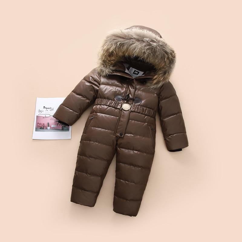 -30 روسيا الشتاء ملابس الطفل الفتيات جاكيتات رشاقته معاطف الأطفال Snowsuit للفتيات مقنعين الأطفال السروال القصير الفتيان قميص