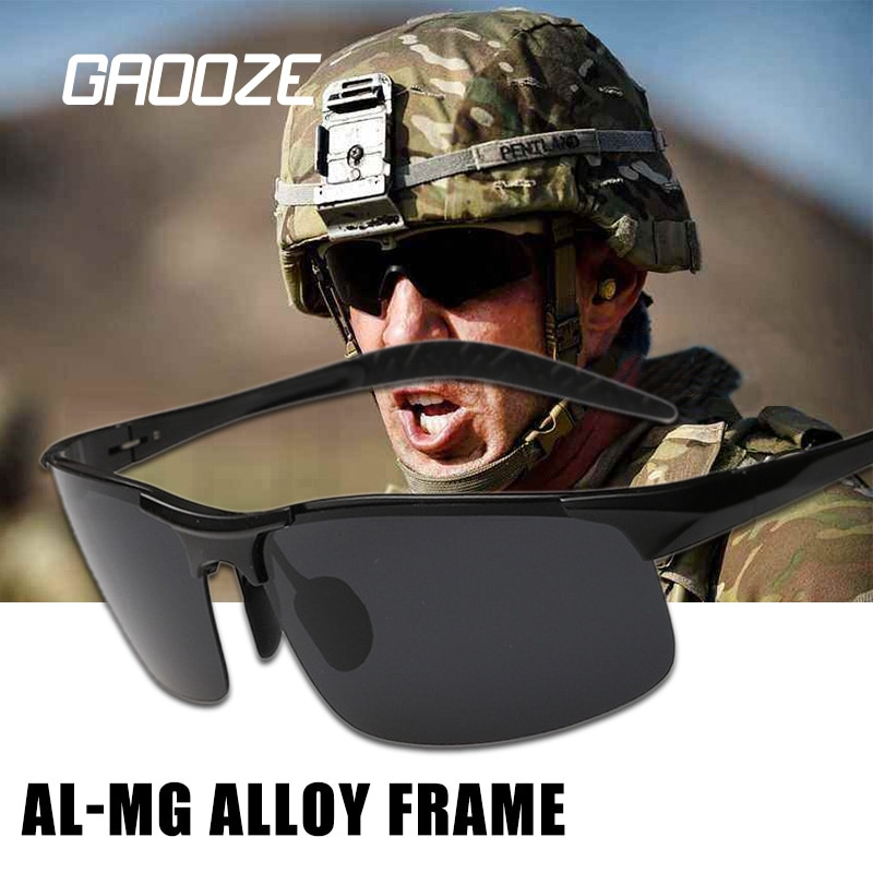 GAOOZE 2020 Military Goggles Polarized Sunglasses Men Aluminum Magnesium Sunglasses Man Fashion HD G