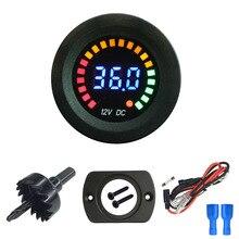 5V-36V Car Voltage Monitor Voltmeter Waterproof LED Digital Display Volt Meter for Car Motorcycle Sedan SUV Truck Boat Marine RV