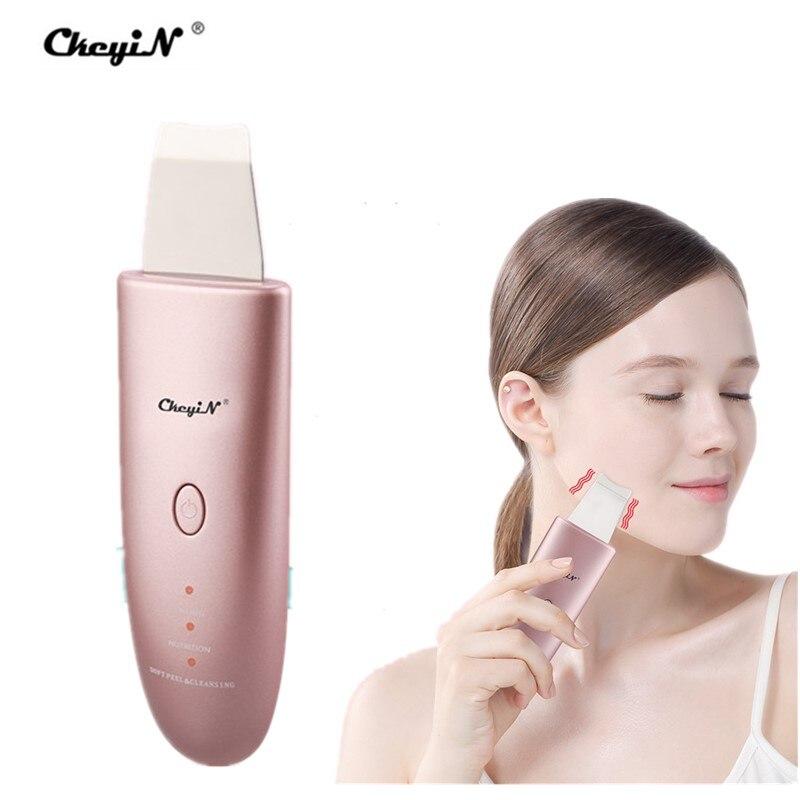 EMS ultrasons peau épurateur points noirs décapant pores peau spatule visage nettoyage en profondeur Double face céramique Vibration 50