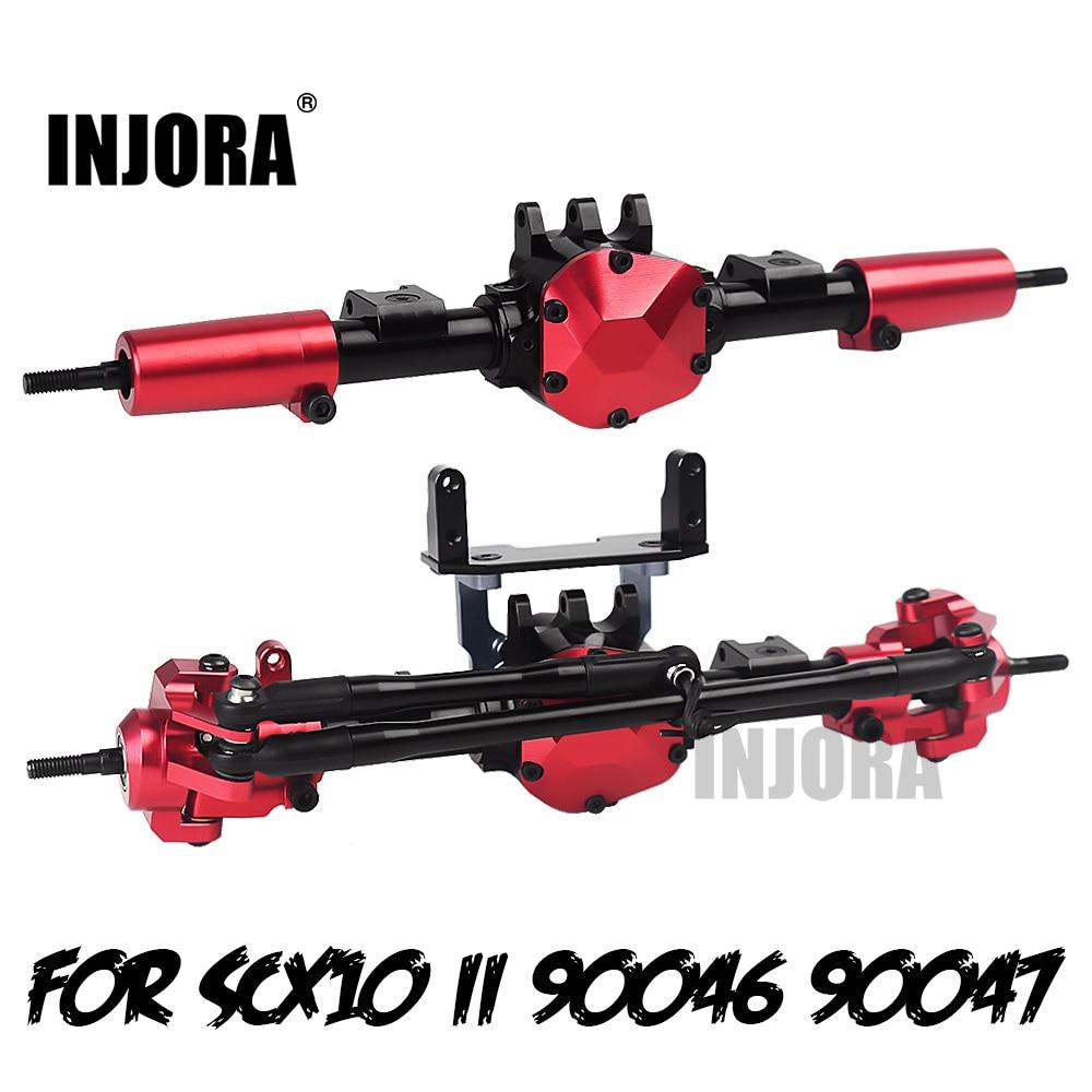 INJORA RC автомобильный CNC металлический передний/задний мост с протектором для 110 RC Гусеничный автомобиль осевой SCX10 II 90046 90047