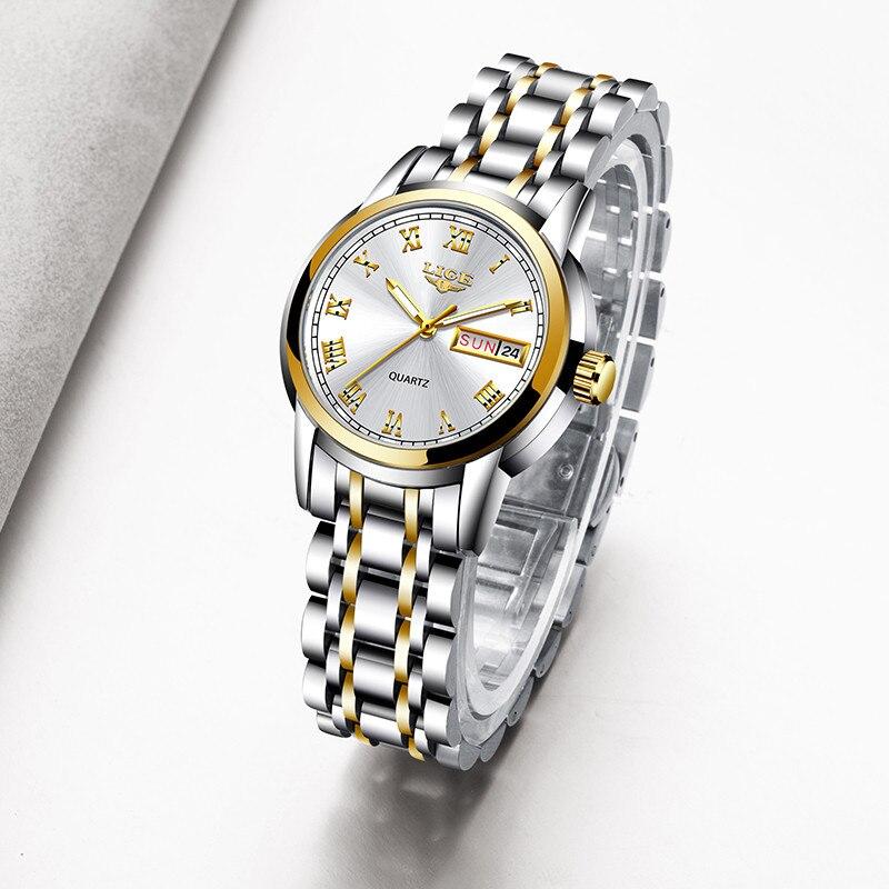 Sunkta Women Watches Top Brand Luxury Stainless Steel Waterproof Ladies Quartz Watch For Women Bracelet Watch Week Date Clock enlarge