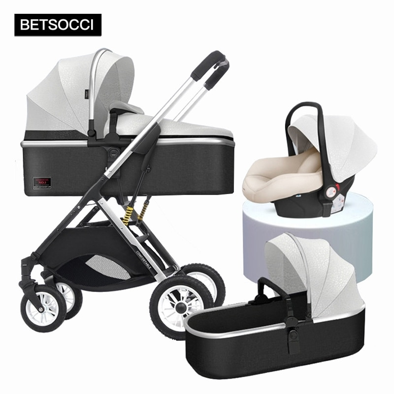 Baby stroller 2 in 1/3 in 1 can sit, lie down and lightly fold two-way high landscape stroller free shipping