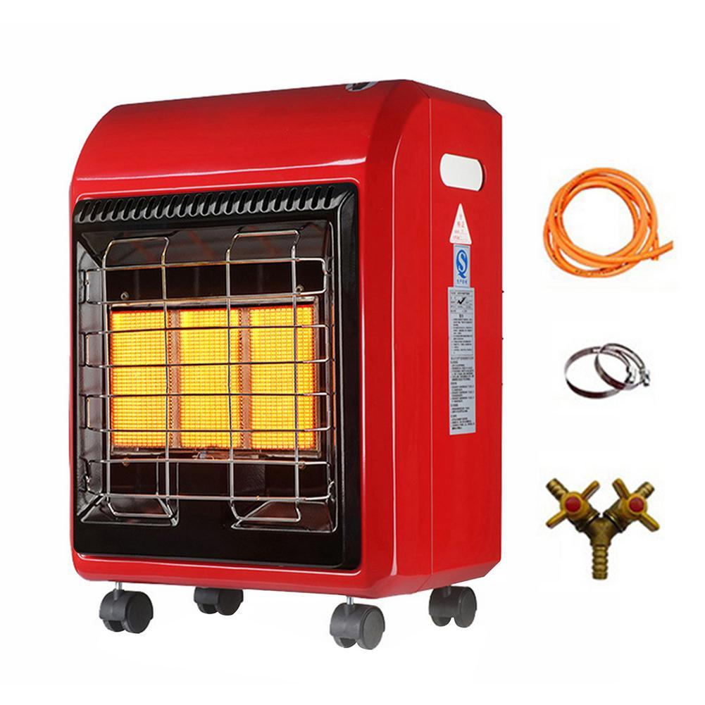 سخان غاز محمول بالأشعة تحت الحمراء للتخييم ، تدفئة بالأشعة تحت الحمراء للاستخدام في الهواء الطلق والمنزل ، للتخييم وصيد الأسماك ، 4.2KW