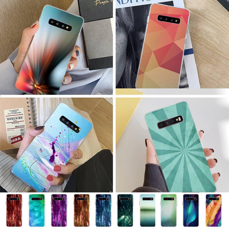 Funda de teléfono negra blanda abstracta de deslizamiento, funda transparente Samsung S10 S10lite S9 S9plus S8 S7 S6 S6edge