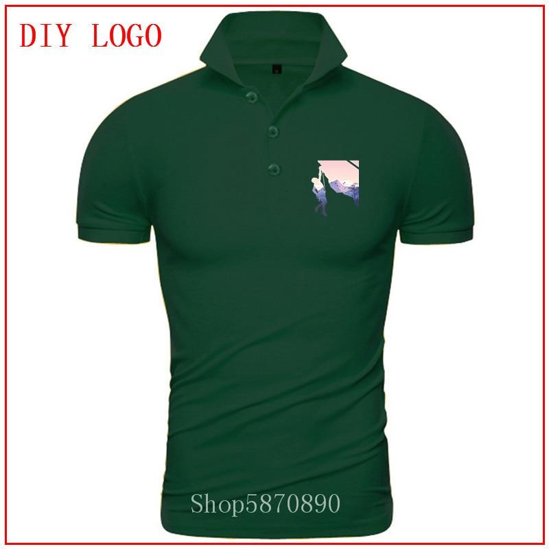 2020 ropa hombre Mountain Climber ROCK MTB Funny Outdoor Camping Hike Cotton Short Sleeve polo t shirt for men summer Camisas