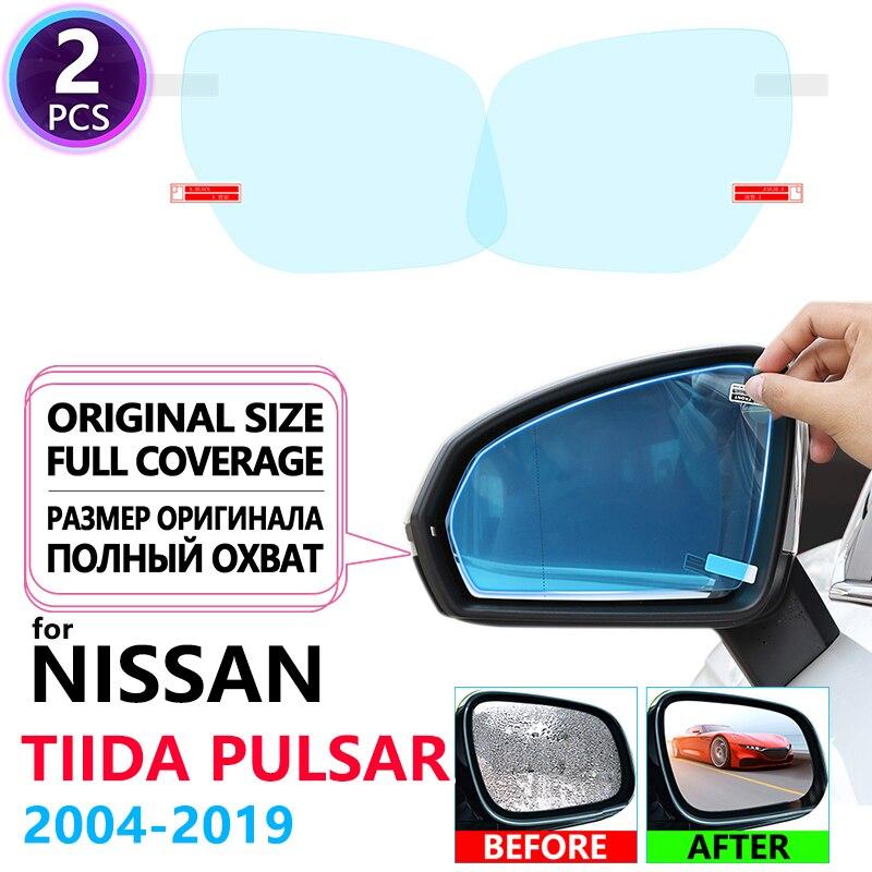 Полное покрытие анти-туман пленка зеркало заднего вида для Nissan Tiida Pulsar C11 C12 C13 2004 ~ 2019 пленки аксессуары Latio Versa 2015 2017