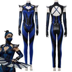 Mortal cosplay kitana traje terno macacão halloween carnaval traje feito sob encomenda