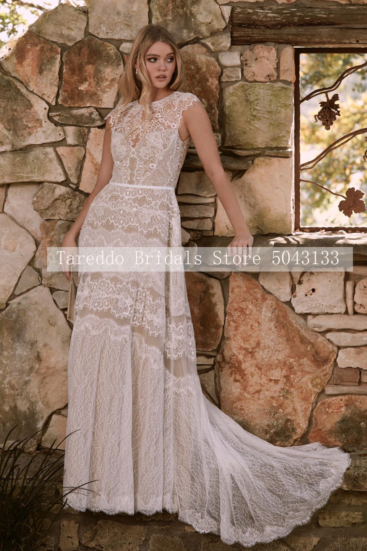 One Shoulder Outdoor Wedding Dress Appliqued Pearls Summer Vestido De Noiva Custom Made Free Shipping Luxury Beach  Bridal Gown