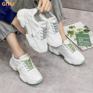 Women's Chunky Sneakers Thick Bottom Platform Vulcanize Shoes Fashion Breathable Casual Flat Shoes for Woman Female 2021 New