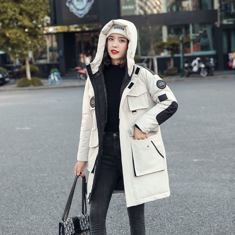 CINESSD 2020 Winter New Women Cotton jacket Loose Warmth Thickening Large Size Women Coat High quali
