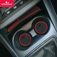 Gate slot Cup Mat for Lada Vesta 2020 SW CROSS CVT Door Groove Non-slip Pad 6pcs/set Accessories Cup Holders Rubber Mat