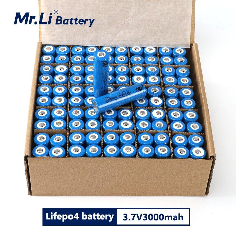Mr.li 100 قطعة جديدة أصلية 18650 3.7 فولت 3000 مللي أمبير بطاريّة ليثيوم قابلة لإعادة الشحن بطاريات ليثيوم أيون بطارية مصباح