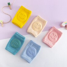 Non Slip Kids Crawling Elbow Infants Toddlers Baby Accessories Smile Knee Pads Protector Safety Knee