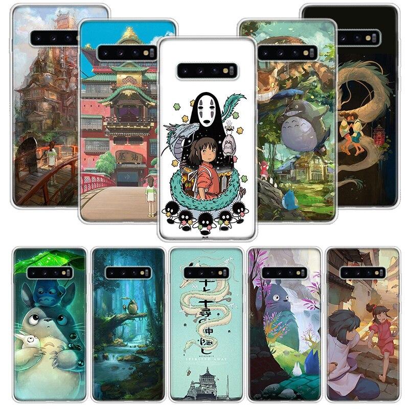 Totoro Spirited Away Ghibli Case for Samsung Galaxy S10 S20 Ultra Lite NOTE 10 9 8 S9 S8 + S7 Edge J4 J6 J8 2018 Plus Phone Coqu