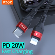 PZOZ PD 20W/18W USB C Cable Fast Charging For iPhone 13 12 11 Pro Max Xs X iPad 2021 Mini air Macbook Type C Charger USB-C Cable
