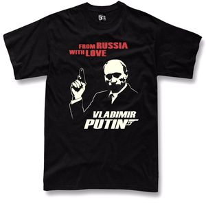 Putin Men T Shirt from Russia with love funny USSR
