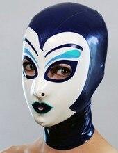 (Latex 31) Latex opéra capuche caoutchouc Latec fétiche masque avec dos zippé 0.4MM dépaisseur