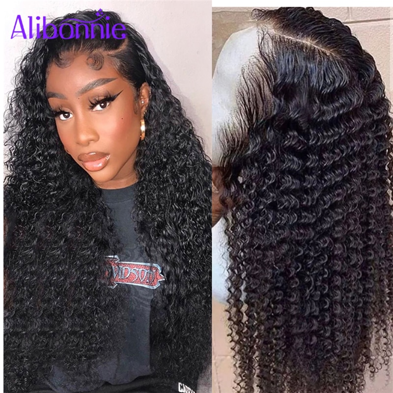 4x4 Closure Wigs Curly Human Hair Wig Remy Brazilian Hair Kinky Curly Lace Closure Wigs Pre Plucked 30inch Lace Front Wigs