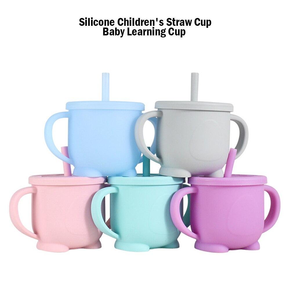Bebé Fütterung adornos bebé Lernen para bebida de bebé silikon Sippy adornos Für Kleinkinder & Kinder Mit Silikon Sippy Tasse Deckel Solide