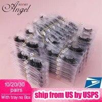 wowangel wholesale 102030 pairs 3d mink lashes natural mink eyelashes false eyelashes make up silk lashes in bulk