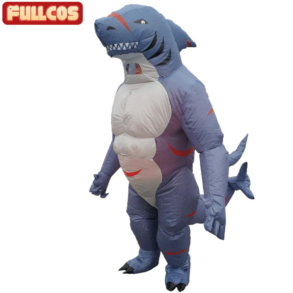 Disfraz inflable de tiburón para adultos, disfraz de Halloween, carnaval, fiesta de disfraces, disfraces de cumpleaños para hombres y mujeres