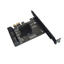 Pcie Naar 6 Sata Card 6 Poorten SATA3 Pci Express Uitbreidingskaart Pci-E/Pcie Sata Controller Multiplier Voor Ssd synology ASM1166 Chip