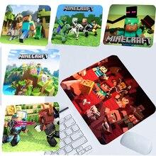 Minecraftes Mouse Pad 3D impreso de dibujos animados ratón Mat Anime Mouse Pad para Juegos Oficina ordenador portátil estera de caucho de niño regalo de cumpleaños