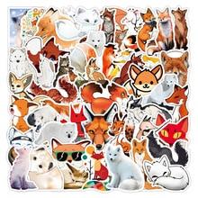 10/50pcs Cartoon Cute Fox Vulpes Graffiti Stickers DIY Laptop Luggage Refrigerator PVC Kids Stickers Toys