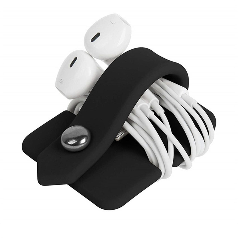 2020 téléphone câble organisateur bonne qualité Silicone enveloppement enrouleur cordon gestionnaire casque écouteurs supports câble enrouleur
