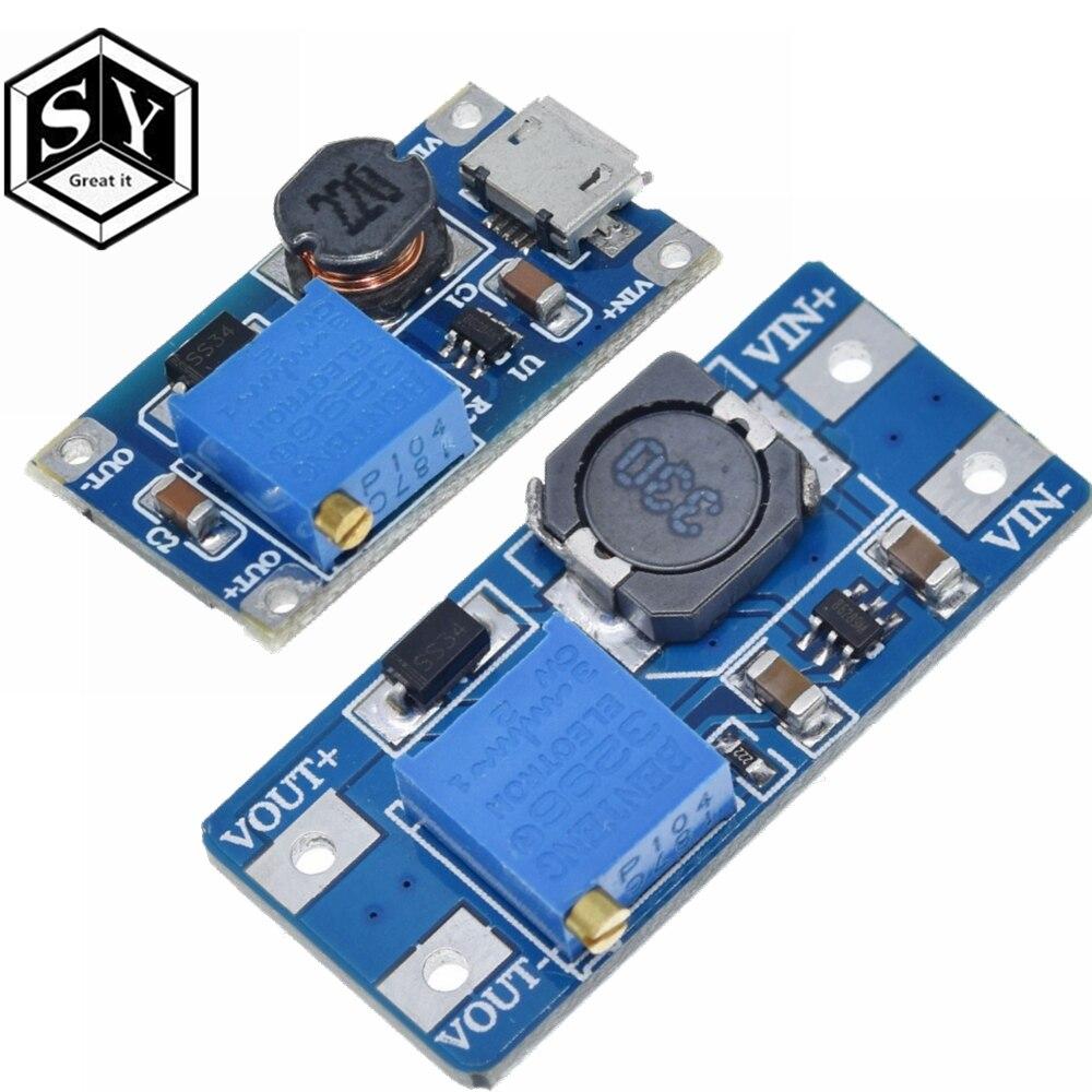 Модуль повышения мощности Great IT MT3608 2A Max, 1 шт., Модуль повышения мощности с 3-5 в до 5 В/9 В/12 В/24 В