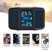 Система контроля давления в шинах, прибор для контроля температуры, солнечная батарея, USB, с 2 внешними датчиками