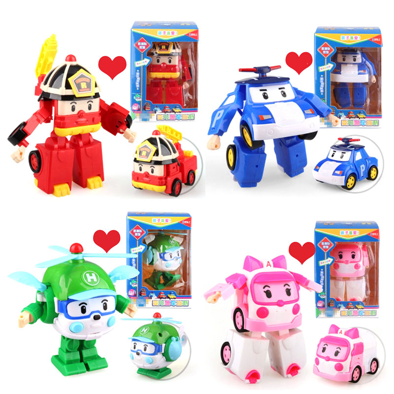 New gifts boy Robocar poli Transformation Robot Car Toy Korea Poli Anime Action Figure Toys For Children Gift