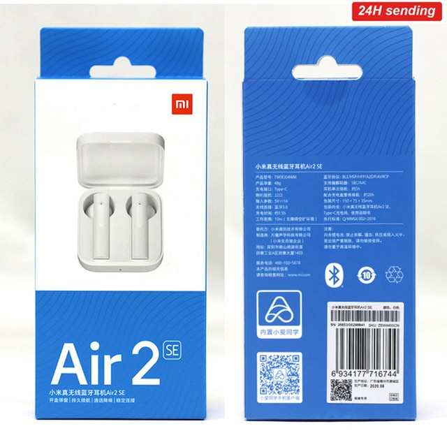 2021 Xiaomi Air2 SE TWS Original Wireless Bluetooth 5.0 Earphone AirDots 2SE Mi True Redmi Airdots Earbuds Air 2 SE Eeaphones 2