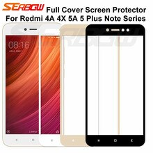 9D Protection Glass For Xiaomi Redmi 5 Plus S2 4X 4A 5A Screen Protector For Redmi Note 4 4X 5 5A Pr