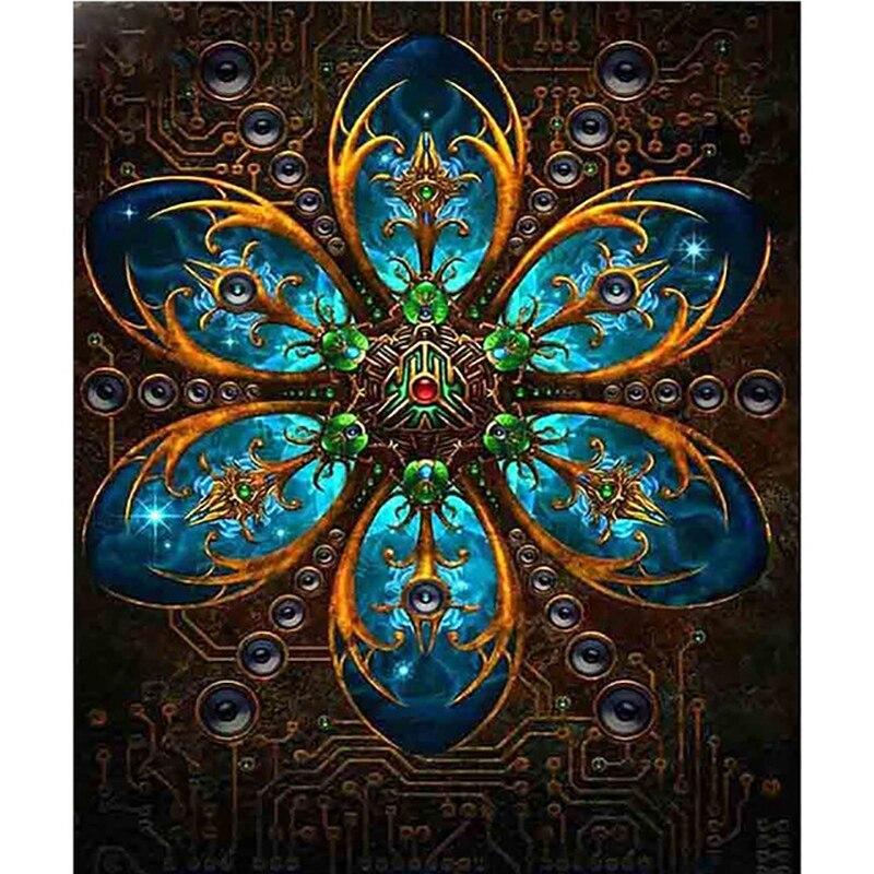 5D Diy Full Round Diamond Embroidery Diamond Painting Mandala Pattern Stickers Cross Stitch Decorative Painting