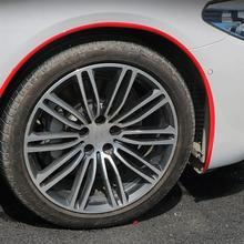 1pc Rubber Car Wheel Brow Anti-Scratch Car Protective Strip Universal Mud Guard Wheel Arch Trim Strip Car Wheel Styling